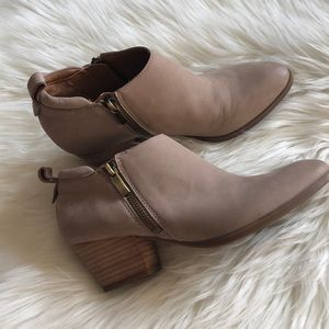 Franco Sarto Granite Leather Booties
